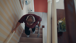 Play video: Going up stairs with crutches