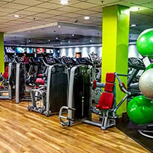 Gym floor fitness equipment