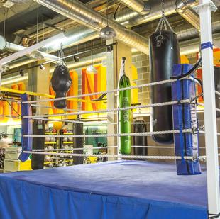 Boxing ring at Baltimore Wharf