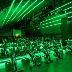 City fitness and wellbeing gym spinning