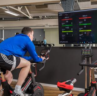 Nuffield Health Guiseley health and wellbeing club wattbikes