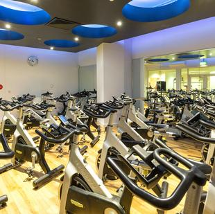Manchester Printworks fitness and wellbeing spinning