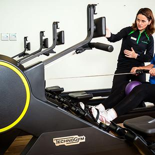Technogym Skillrow equipment and Nuffield Health West Byfleet