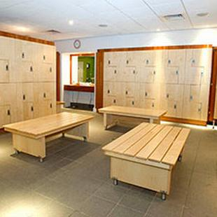 Gym changing room