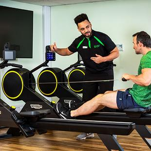 Personal Training sessions with Technogym Skillrow equipment and Nuffield Health West Byfleet