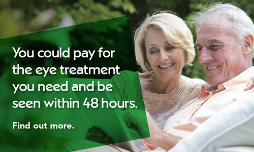 Mature couple looking at tablet. Click here to find out more about paying for yourself.