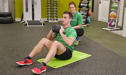 Kettlebell sit-up