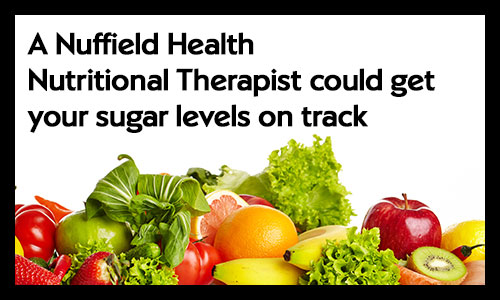 Use a nutritional therapist to control sugar levels