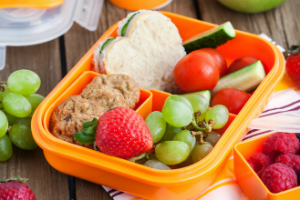 Bento-style packed lunch box