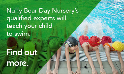 At Nuffy Bear Day Nursery, we will teach your child to swim