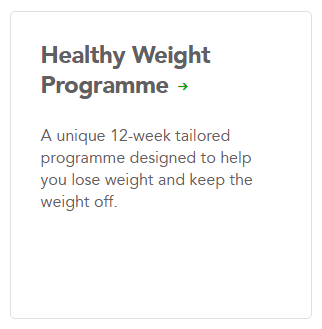 Healthy weight programme