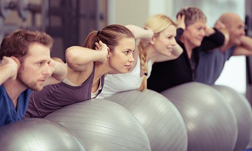 Clinical pilates using swiss balls