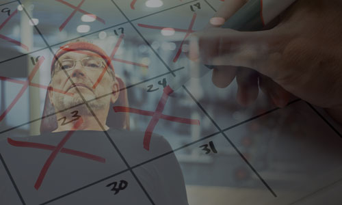 Derek calendar double exposure