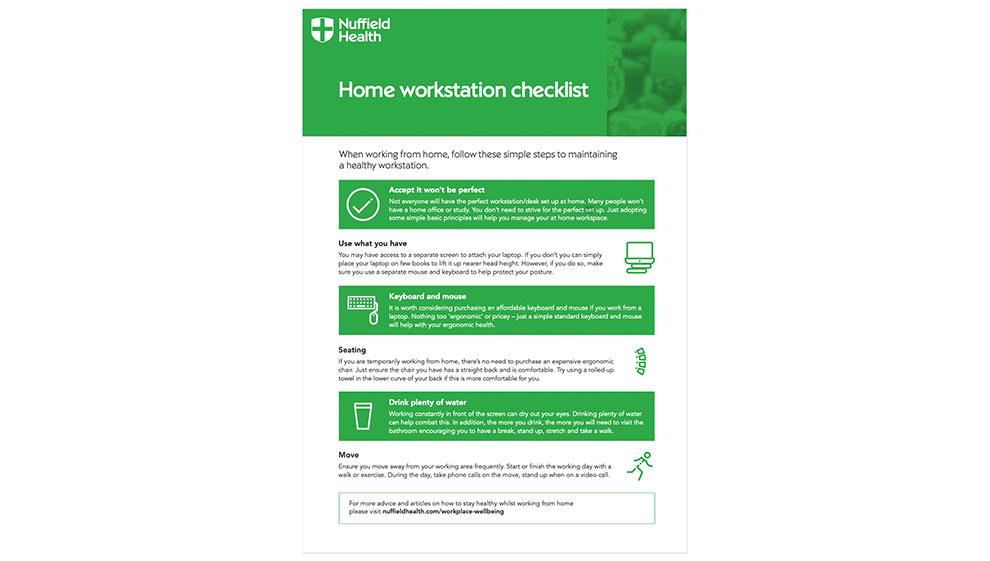 Home workstation checklist