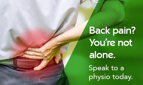 Back pain? Speak to a physio today.