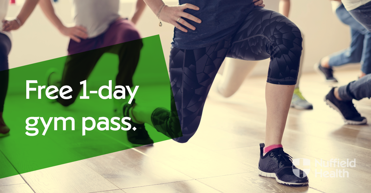 free 1 day gym pass nuffield health