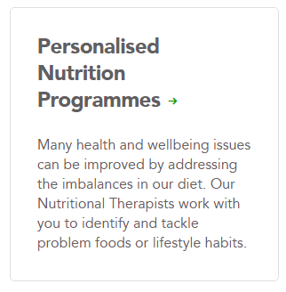 Personalised nutrition programmes