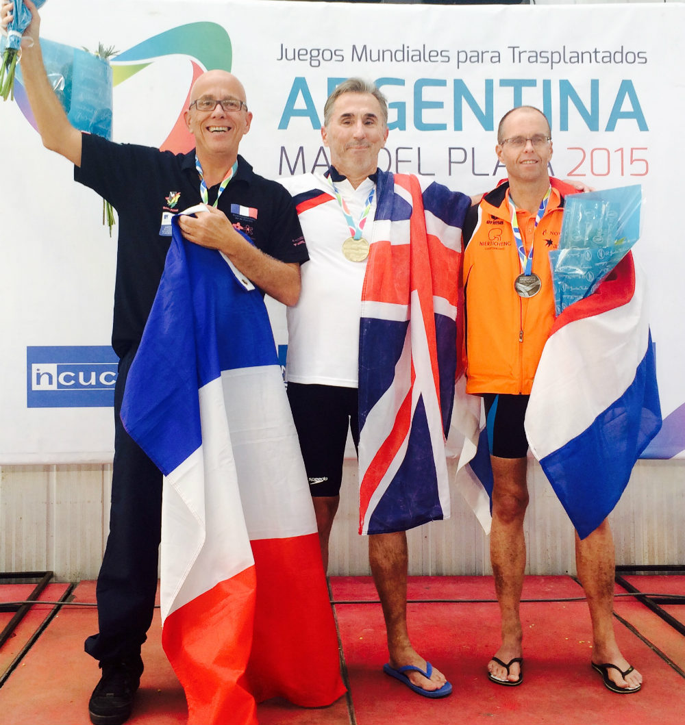 Damian Matich wins Gold at the 2015 World Transplant Games in Argentina