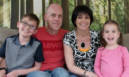 Tom Gowers and his family