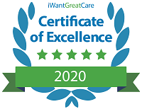 I Want Great Care 2020 Certificate of Excellence