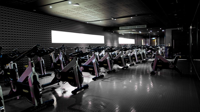 Croydon Central gym indoor cycling studio