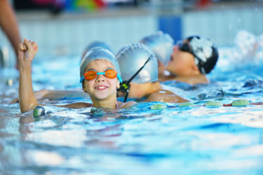 Children's swimming lessons at Nuffield Health gym in Swindon