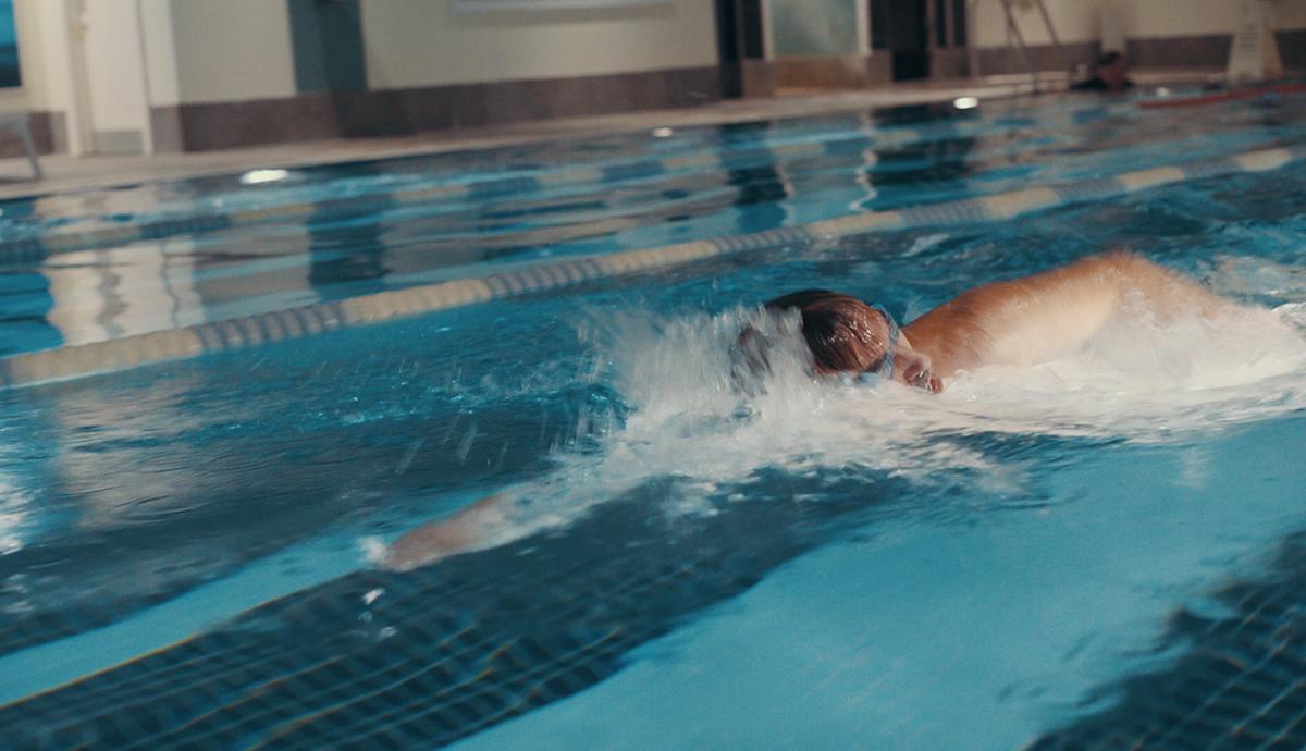 Damian Matich swimming in Paddington pool