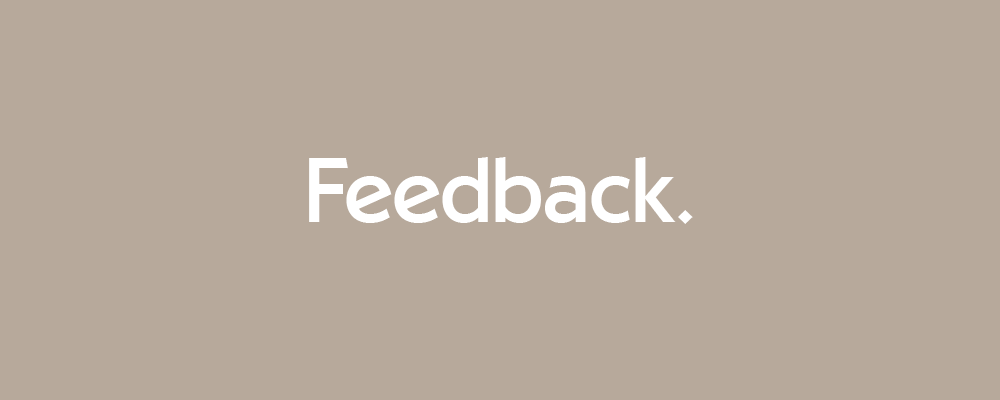 Click here to find out how to give feedback.