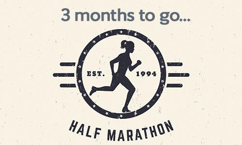 Half marathon - 3 months to go