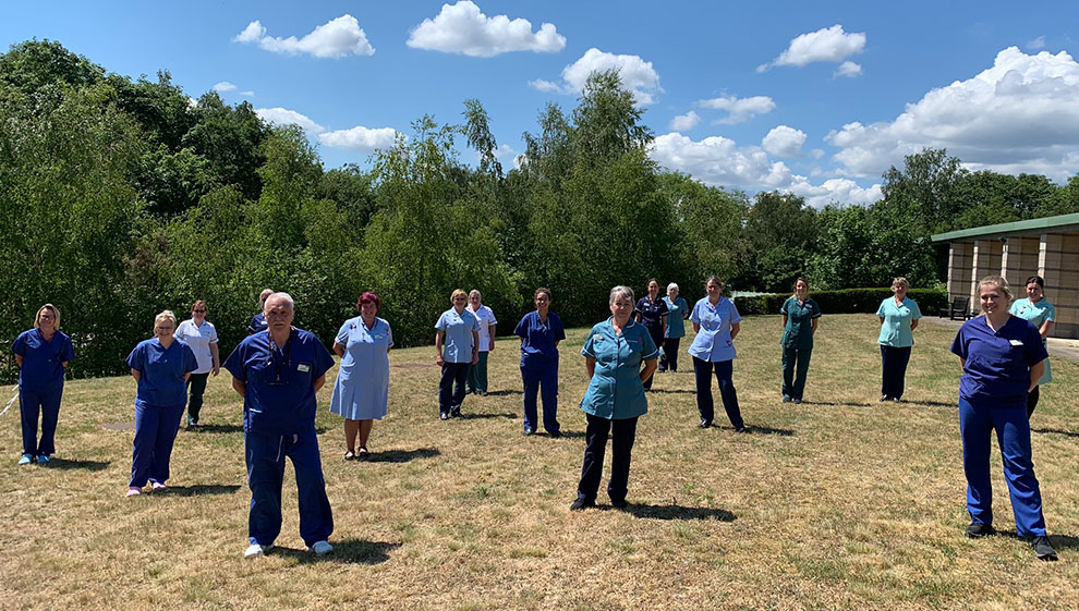 Staff at Nuffield Health Ipswich Hospital during the COVID-19 pandemic
