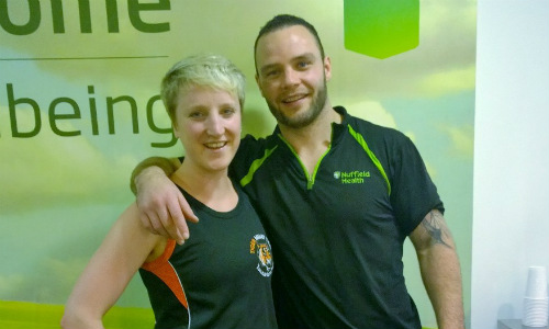 Sam and Marty at Microsoft's Nuffield Health gym