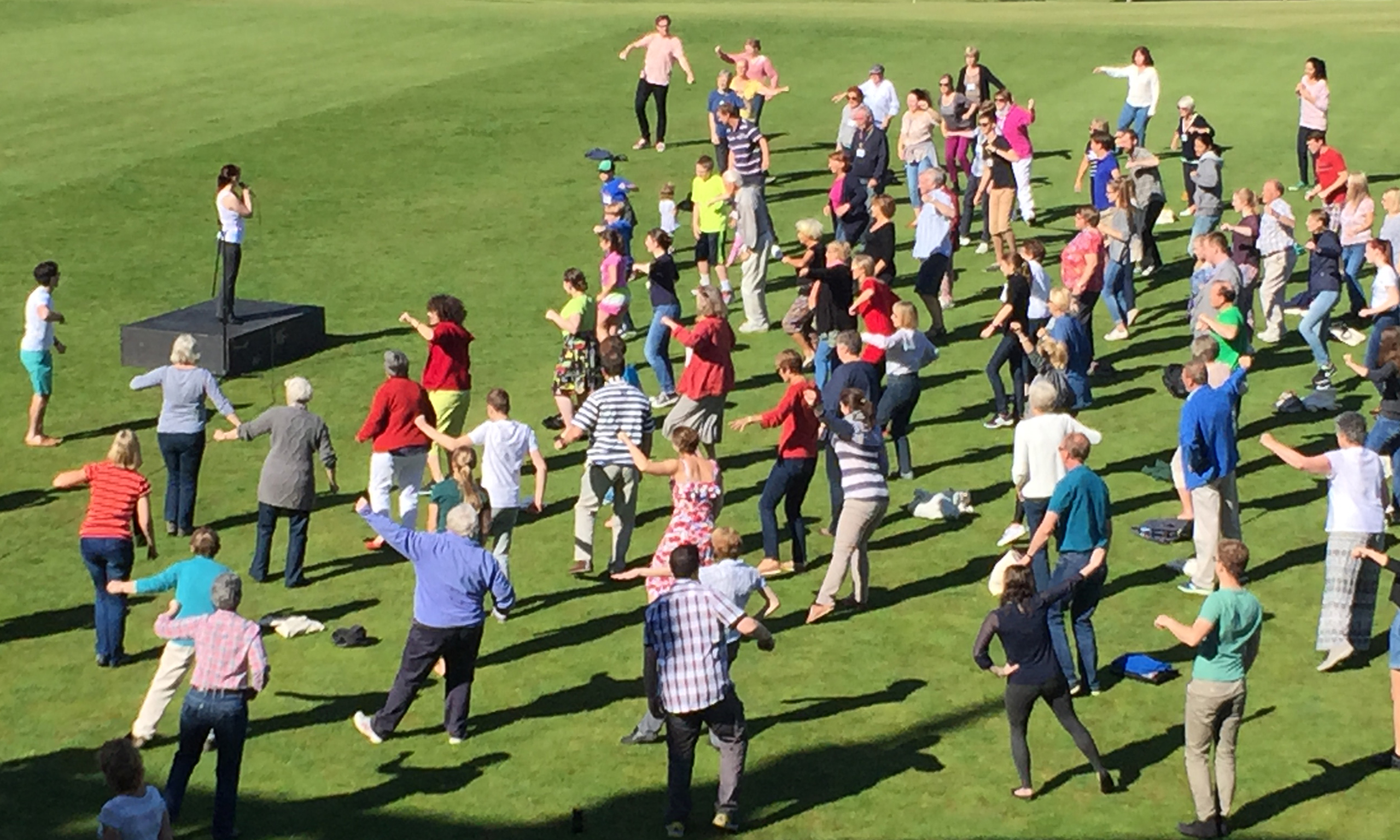 Get Movement class held outdoors