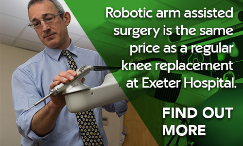 Find out more about robot arm assisted knee replacement at Exeter