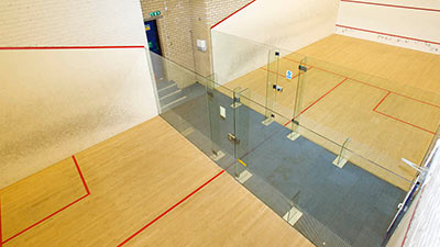 Squash courts at Battersea Nuffield Health gym