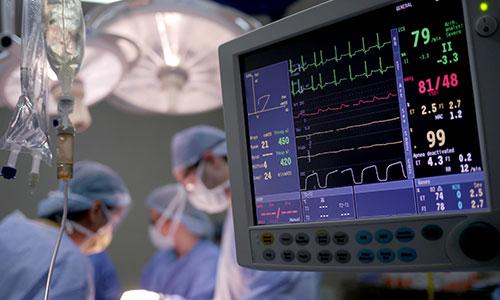 Surgery heart monitor
