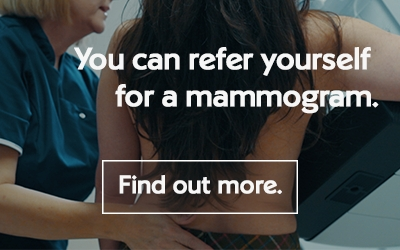 Refer yourself for a mammogram