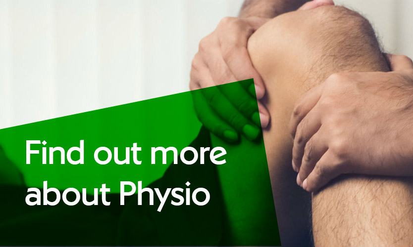 Physiotherapy on leg - find out more about physio