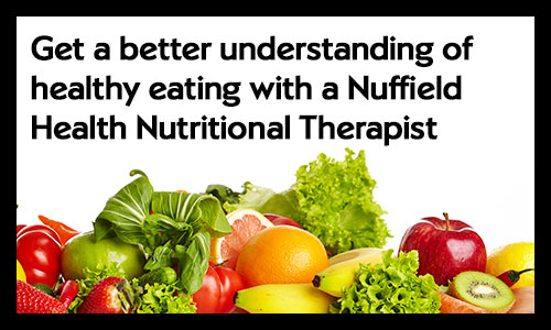 Get a better understanding of healthy eating with a nutritional therapist