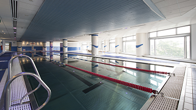 Swimming pool at The Canary Wharf Health Club