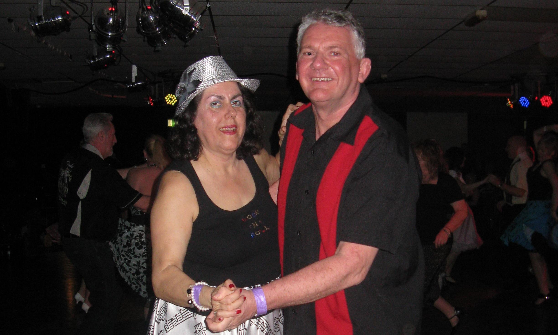 John Reid dancing with his wife