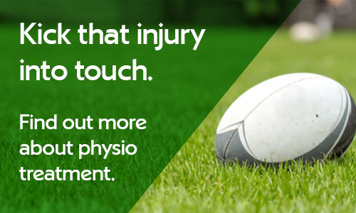 Kick that injury into touch. Find out more about physiotherapy treatment.
