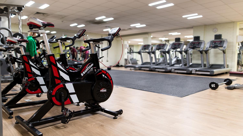 Wattbikes on Battersea gym floor