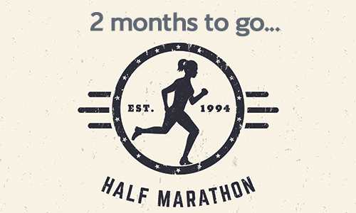 Half marathon - two months to go