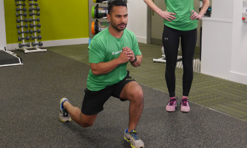 Jumping lunge - part of a circuit