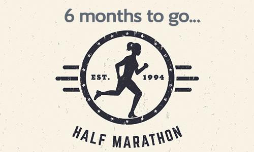 Half marathon 6 months to go