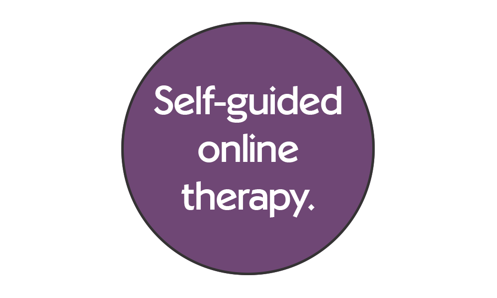 Self-guided online therapy
