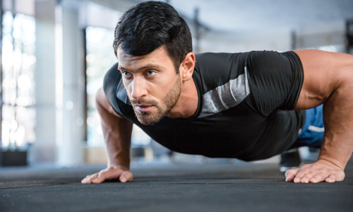 Man doing a pushup