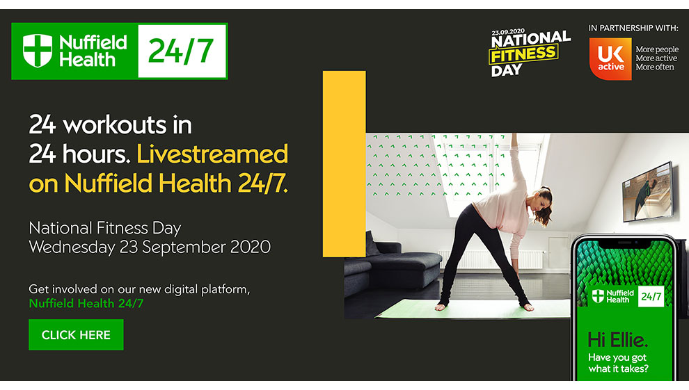 National Fitness Day Nuffield Health 24/7