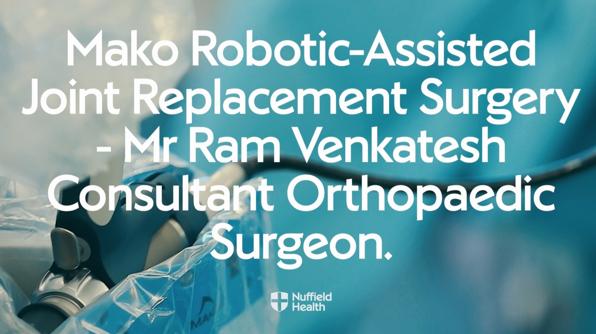 Mr Venkatesh talking about robot-assisted joint replacement surgery