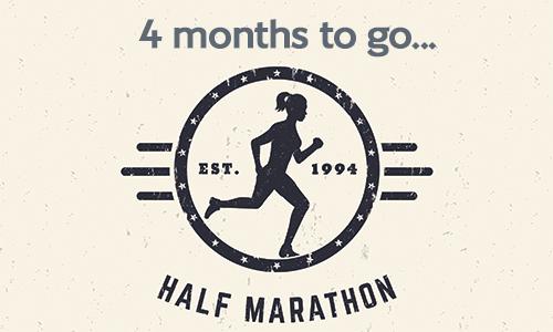 Half marathon - 4 months to go